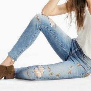 Lucky Brand Ava Skinny Floral Embroidered Jean 14